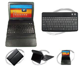 Plastic BT keyboard with leather case for Samsung