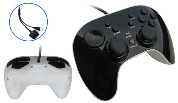 PS2/USB 2IN1 Wired vibration gamepad