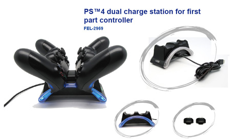 PS4 dual controller charge station