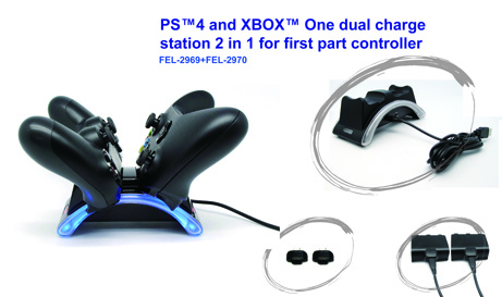 PS4 and XBOX One dual controller charge station
