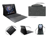 Silicone BT Keyboard with Leather Case for iPad