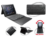 Plastic BT keyboard with leather case for ipad2